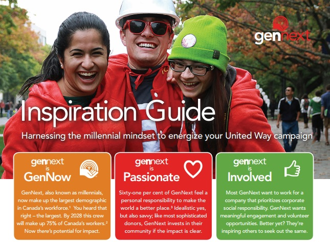 A photo of the United Way GenNext Inspiration Guide