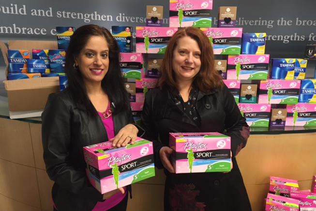Neelam Sahota of DIVERSEcity Community Resources Society and Nikki Hill of United Way of the Lower Mainland.