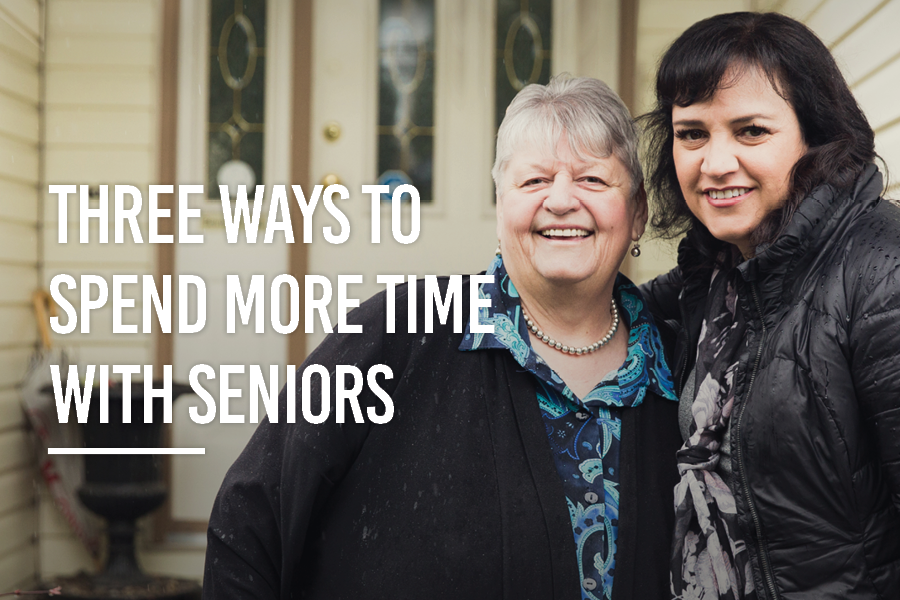 Three ways to spend more time with seniors