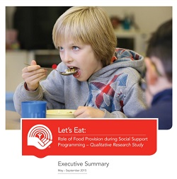 Image of the front cover of the Let's Eat Executive Summary