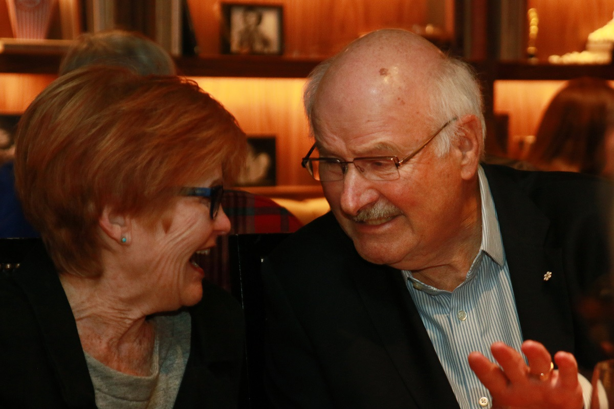 Mike Harcourt and keynote speaker Joy McPhail at the PPI welcome dinner.