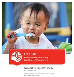 A picture of the front cover of the Let's Eat Qualitative Research Study