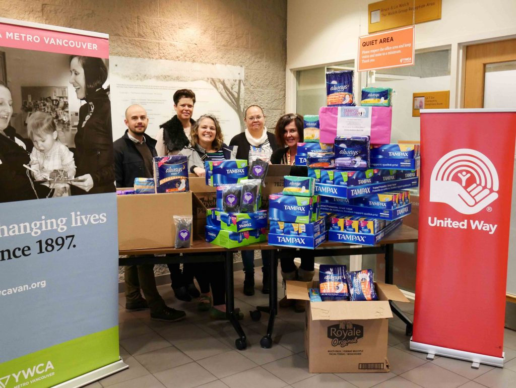 tampon tuesday delivery ywca united way march 22