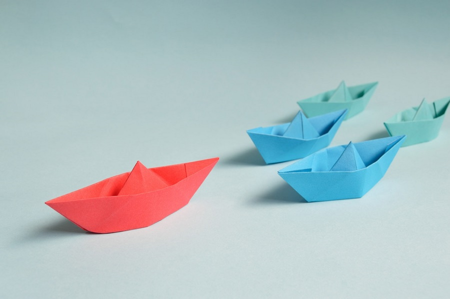 five paper boats