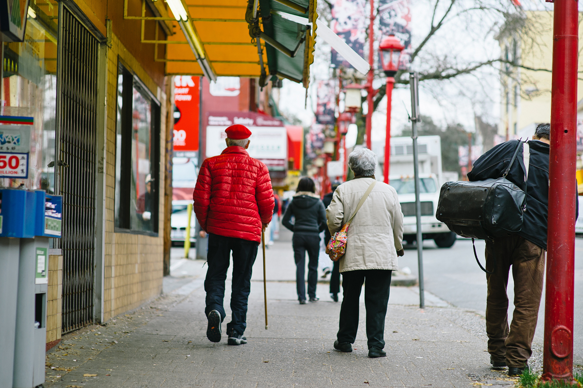 Seniors walking in Vancouver