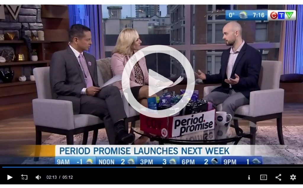 United Way's Neal Adolph talking Period Promise on CTV Morning Live