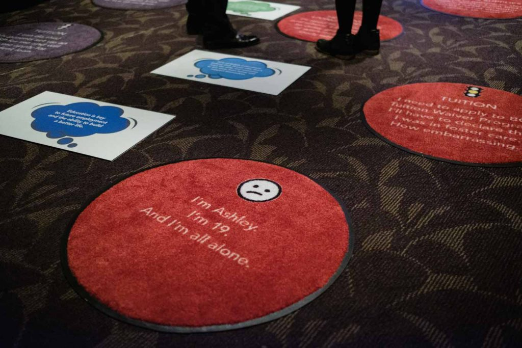 carpet tiles about foster kids